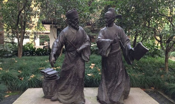 The monument of Matteo Ricci (Li Madou) and Xu Guangqui in Shanghai