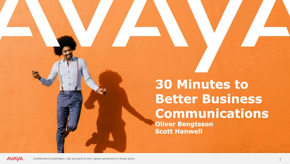Avaya Cloud Office: 30 Minutes to Better Business Communications
