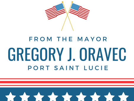 From The Mayor, Gregory J. Oravec