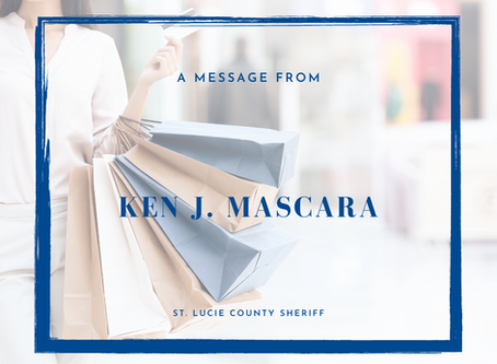 From The Sherriff, Ken J. Mascara - As We Enter The Holiday Season…