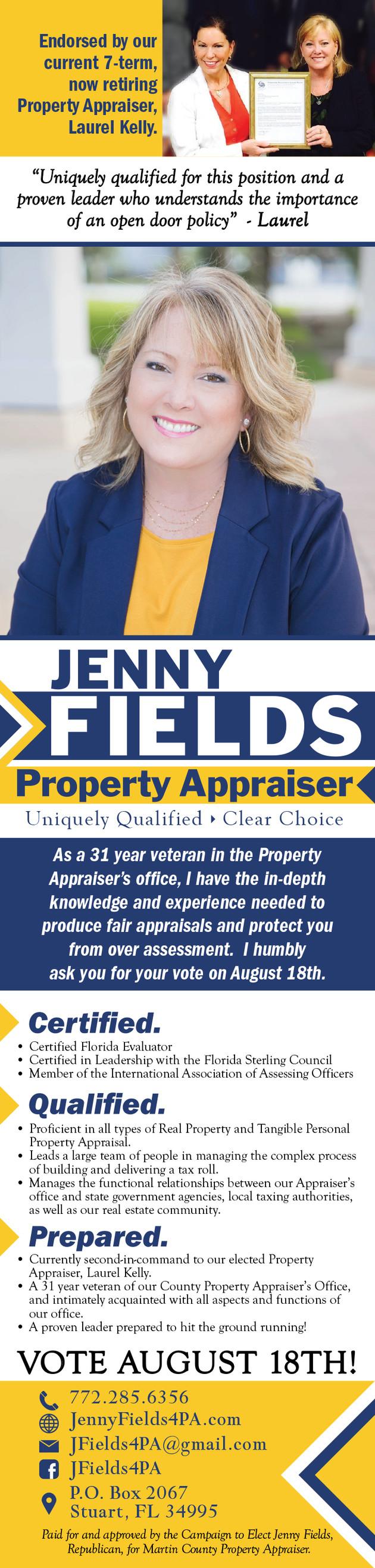 Jenny Fields for Property Appraiser