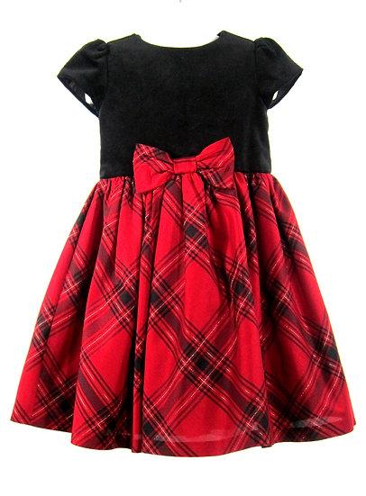 Girl's Gymboree Velvet Striped Dress