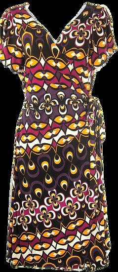 Women's floral Bisou Bisou Wrap Dress