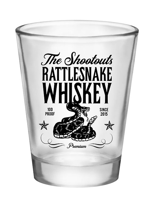"""Rattlesnake Whiskey"" Shot Glass"