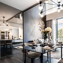 2 Bedroom + Study Loft, Living and Dinin