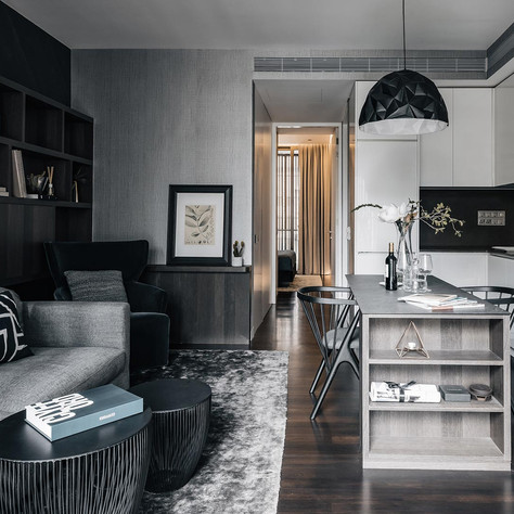 1 Bedroom + Study, Living, Dining and Ki