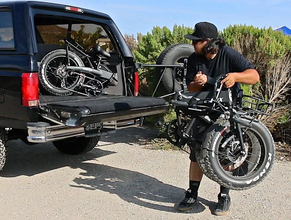 Sierra Folding Bike Easy Storage