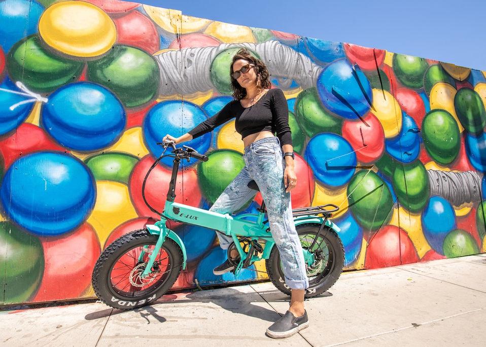 Sierra Folding Electric Bike Street Art