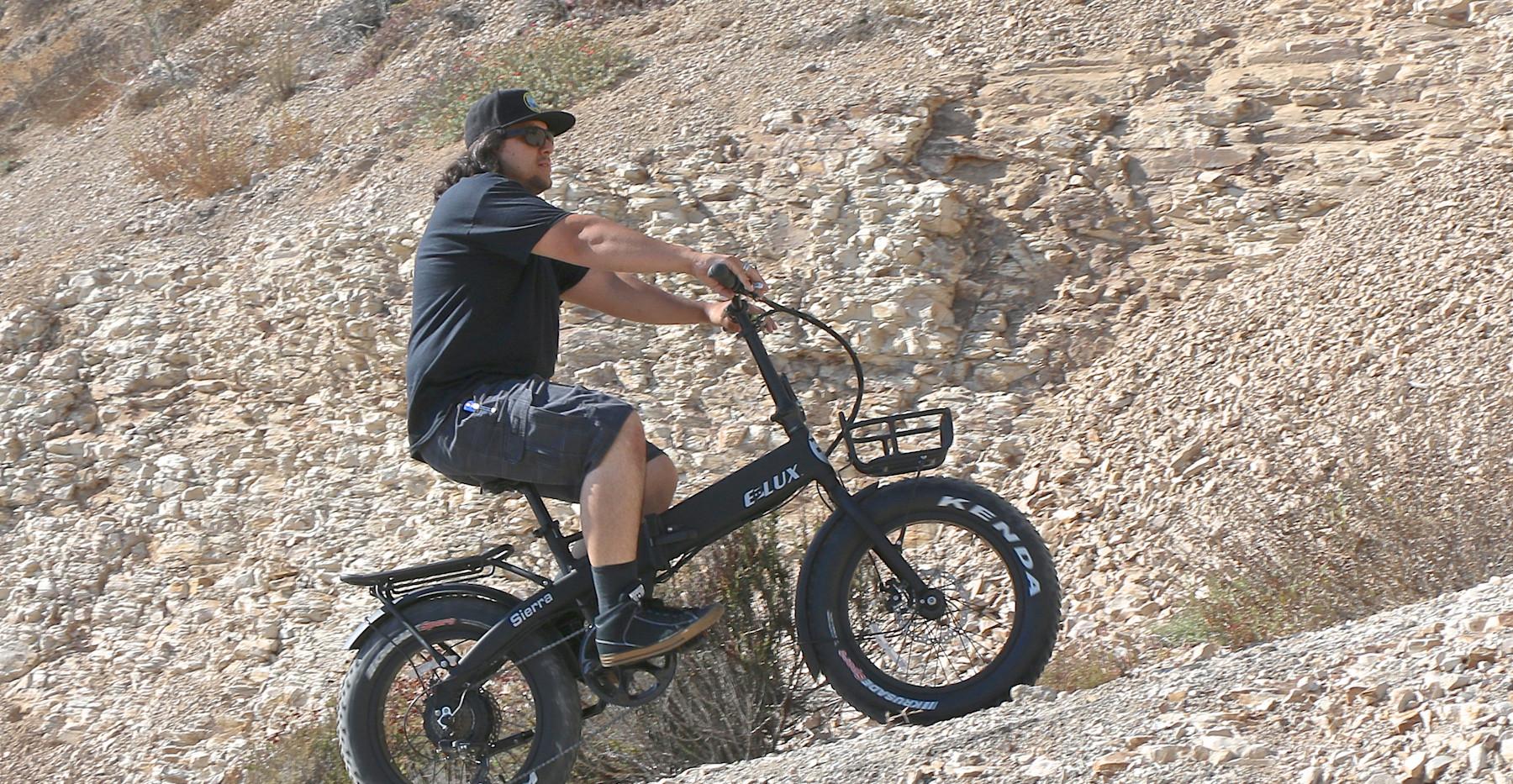 E-Lux Sierra Folding Bike Hill Climb