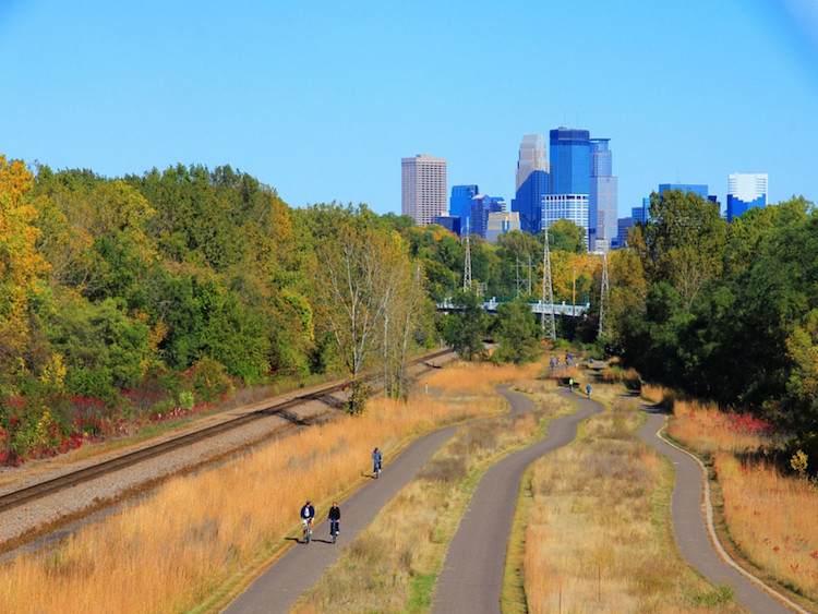 Minneapolis 129 Miles of Bike Paths
