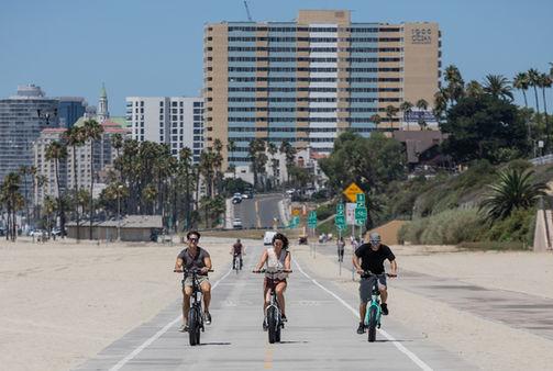 Ride down the boardwalk on Sierra Folding Electric Bike
