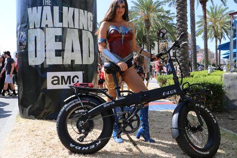 Wonder Woman Loves the Sierra Folding Electric Bike