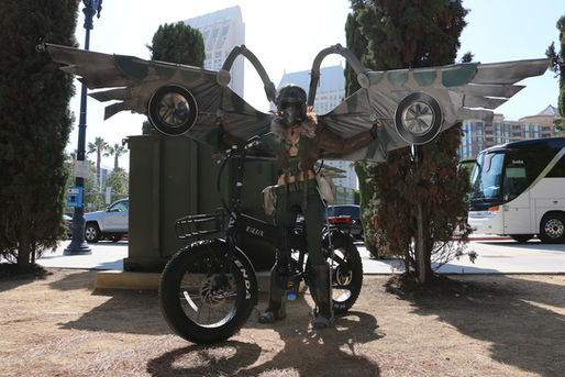 Sierra Folding Electric Bike at Comic Con