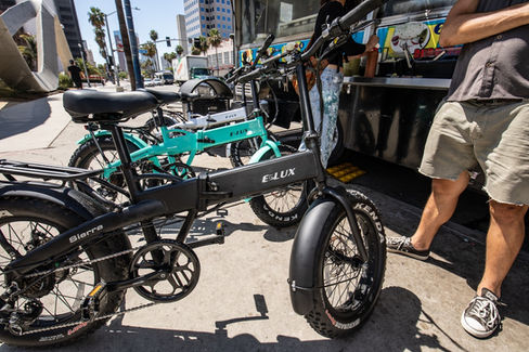 Sierra Folding Electric Bike Grubs at Food Trucks