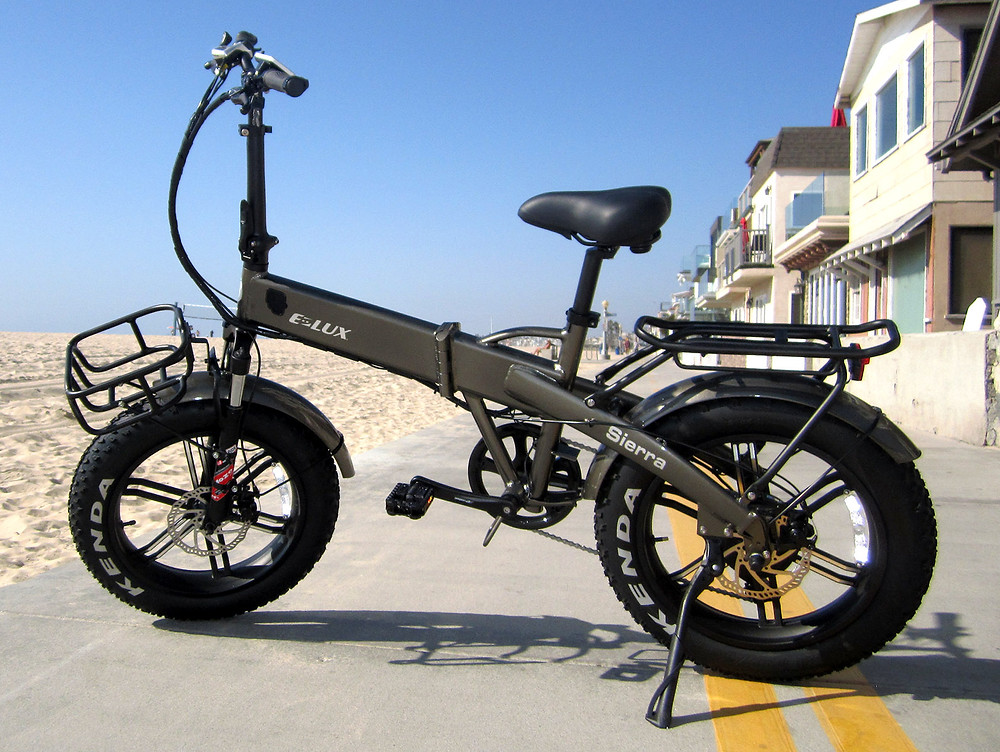 E-Lux Sierra Sport - Folding Fat Tire Electric Sport Bike