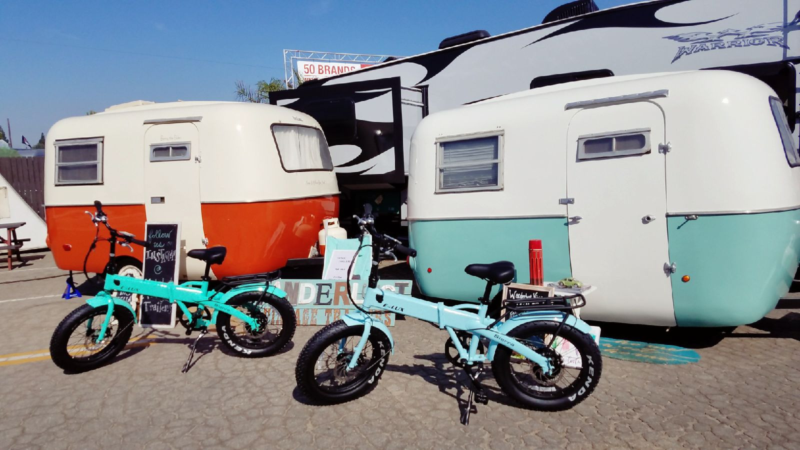 Sierra Electric Folding Bikes are great for taking camping