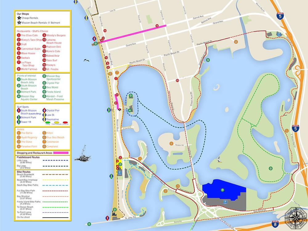 Mission Bay Bike Path | E-Lux Electric Bikes