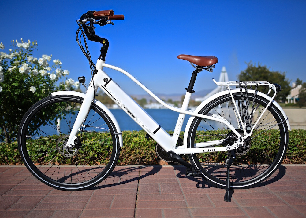 Monaco Step-Thru Women's Electric City Commuter Bike | E-Lux Electric Bikes