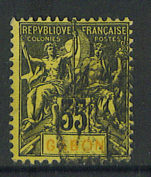 Gabon n°25 , (b)