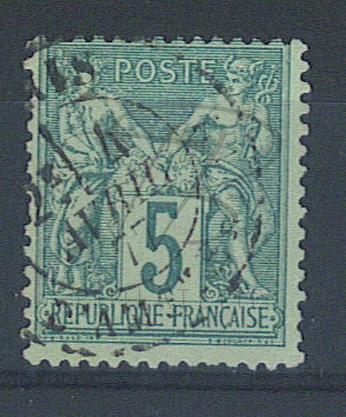 France n°75IIA , vert pâle