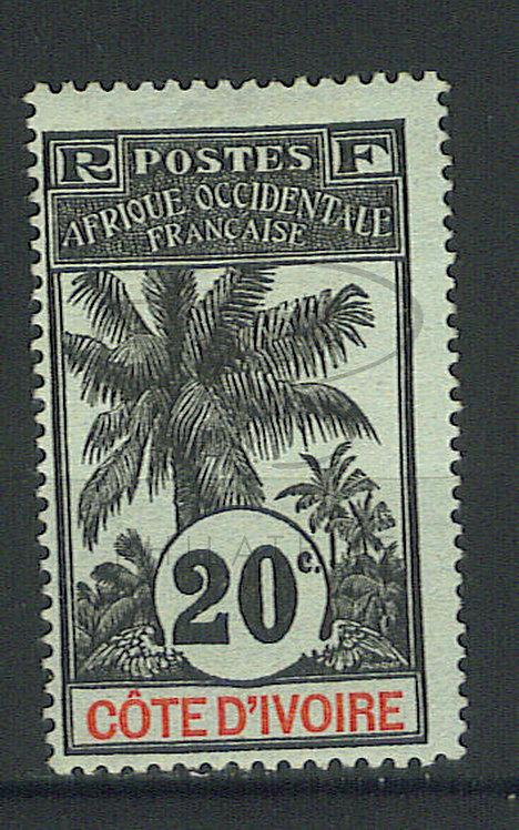 Côte d'ivoire n°26 , signé , *