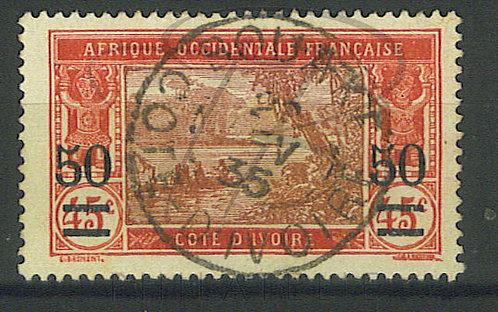 """Côte d'ivoire n°106 , cachet """"BOUAKE"""""""