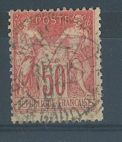 France n°104 , rose foncé , + grand (b)