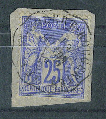 France n°78, cachet convoyeur ST-GOBERT RONGERIES