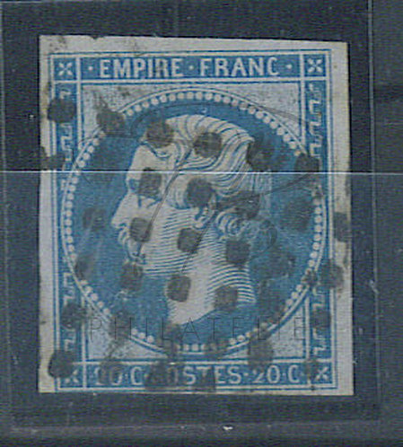 France n°14A, oblitération gros points