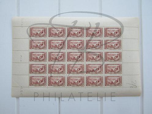 Andorre n°88 en feuille entière, millésime 1940,**