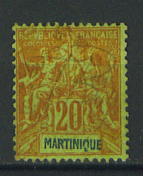 Martinique n°37 , cachet rouge