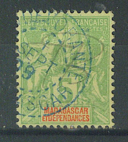 """Madagascar n°42A , cachet """"ANDEVORANTE"""""""
