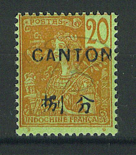 Canton n°39 , surcharge espacée , *
