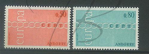 Andorre n°212+213 , **