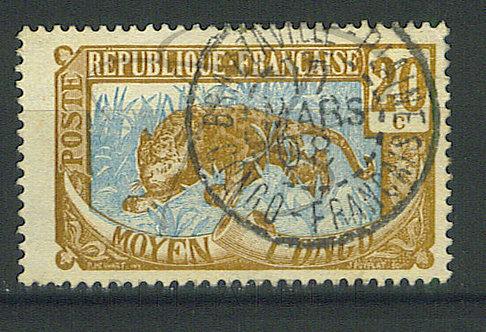 "Congo n°54 , cachet ""BRAZZAVILLE-PLAINE"""