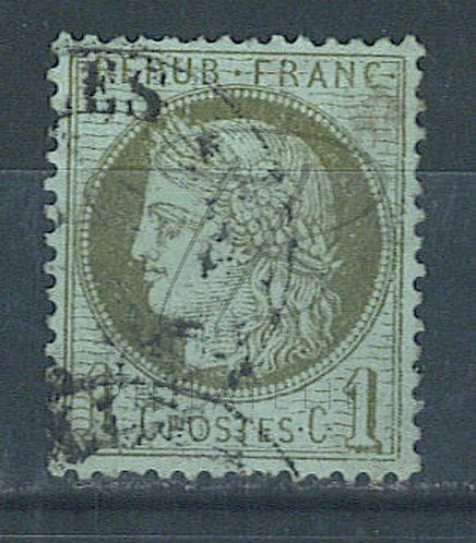 France n°50 , trait blanc sur les épis