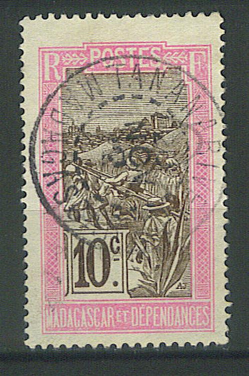 "Madagascar n°98 , rose-claire et brun ""TANANARIVE"""