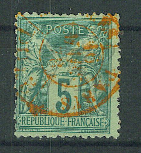 France n°75IIA, cachet rouge des imprimés (b)