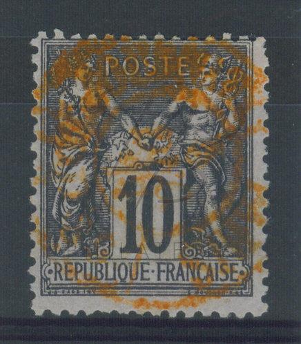 France n°89 , cachet rouge des journaux (c)