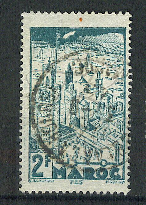 "Maroc n°188 , cachet ""CASABLANCA-BOURSE"""