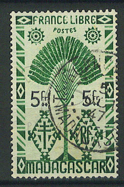 "Madagascar n°276 , cachet ""TSIROANOMANDIDY"""
