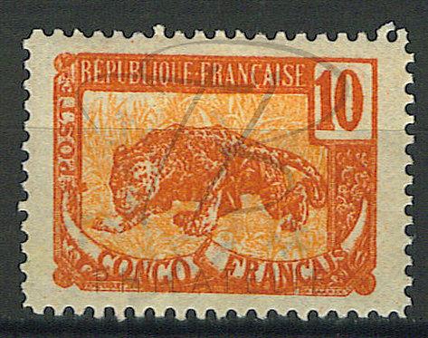 Congo n°31b , défense tronquée , tirage 997 ex , *