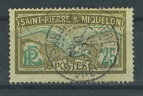 """S.P.M. n°110 , cachet """"SAINT-PIERRE"""""""