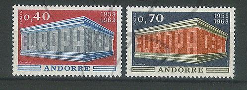Andorre n°194+195 , **