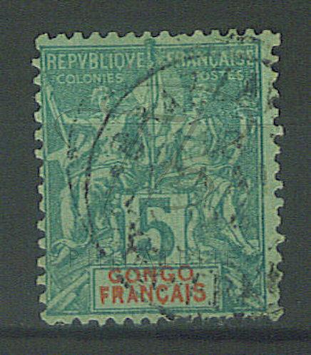 "Congo n°15 , cachet ""BRAZZAVILLE"""