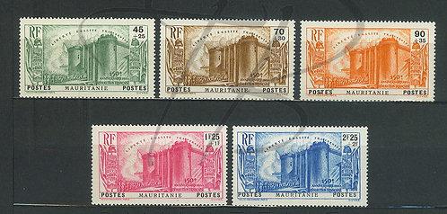 Mauritanie n°100-104 , **