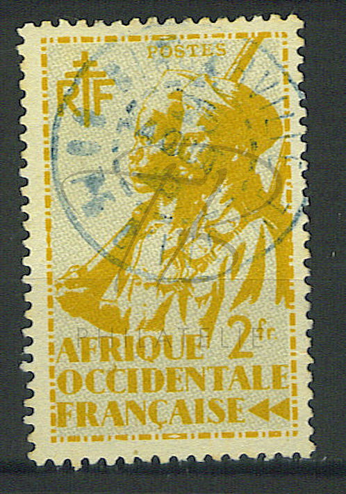 """AOF n°14 , cachet """"BINGERVILLE"""" côte d'ivoire"""