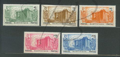 Martinique n°170-174 , **