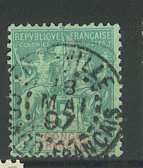 """Congo n°15 , cachet """"LIBREVILLE"""" , (b)"""