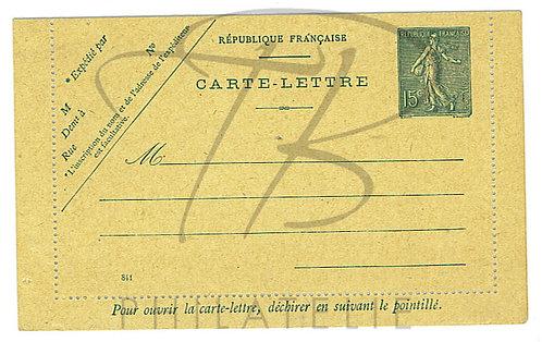 Carte lettre n°130-E8